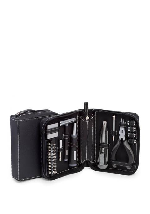 Bey-Berk 22 Piece Tool Set in Black Leatherette