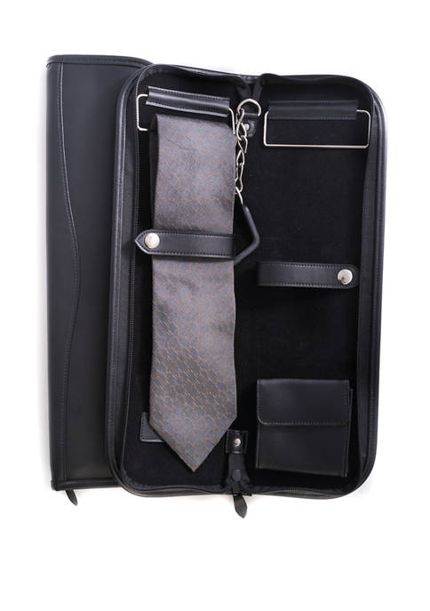 Bey-Berk Travel Tie Case with Accessory Pocket and
