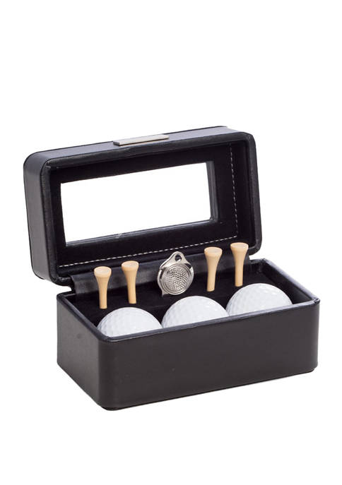 Bey-Berk Golf Accessories Black Leather Box