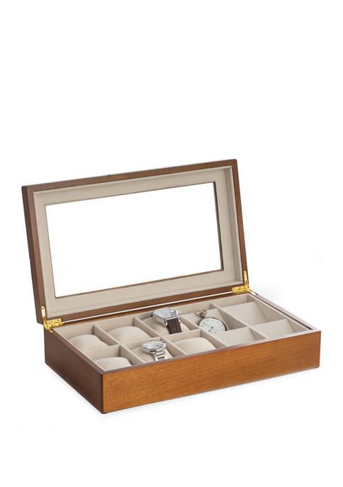 Bey-Berk Cherry Wood 6 Watch and 4 Pocket