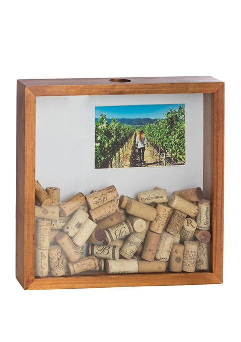 Bey-Berk Bottle Cap Shadow Box with Wall Hooks