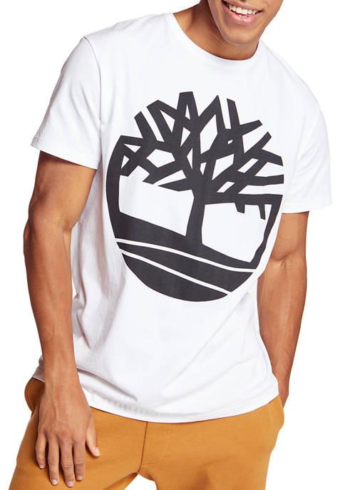 Timberland Mens Short Sleeves Graphic Logo T-Shirt