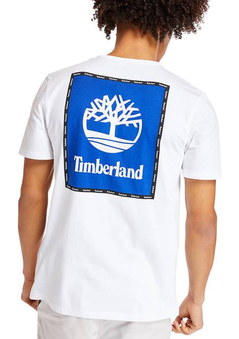 Mens Short Sleeve Box Logo Graphic T-Shirt