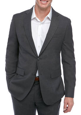 Mens Med Gray Sharkskin Suit Separate Coat