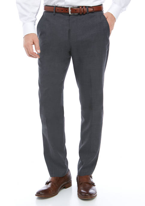 Mens Mid Gray Sharkskin Pants