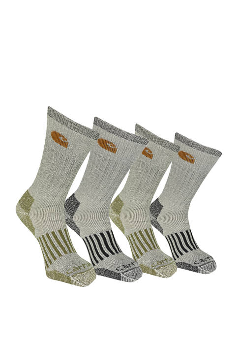 Carhartt Mens Cold Weather Wool Blend Crew Socks