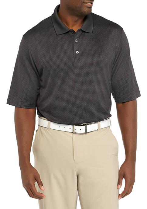 Big & Tall Short Sleeve Diamond Pattern Polo Shirt