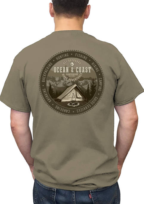 Ocean & Coast® Short Sleeve Treelined Campground Graphic