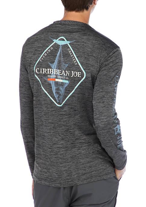 Caribbean Joe Mens Long Sleeve Graphic T-Shirt