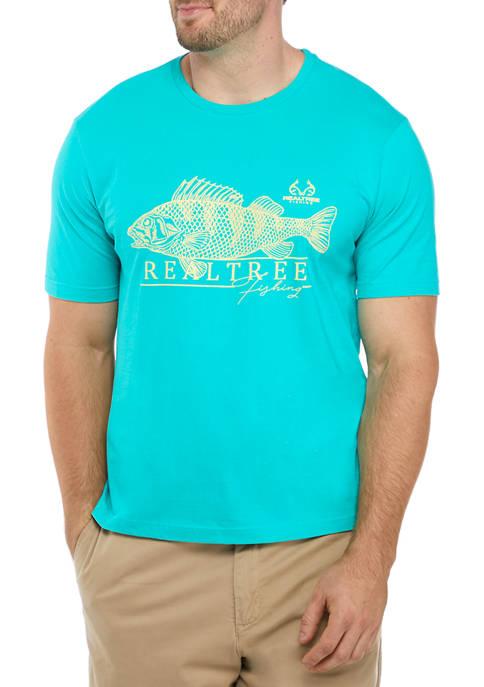X Realtree Big & Tall Bass Crew Neck T-Shirt