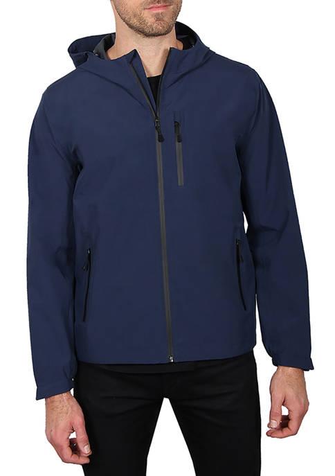 Haggar® Mens Seam Sealed Waterproof Hooded Packable Jacket