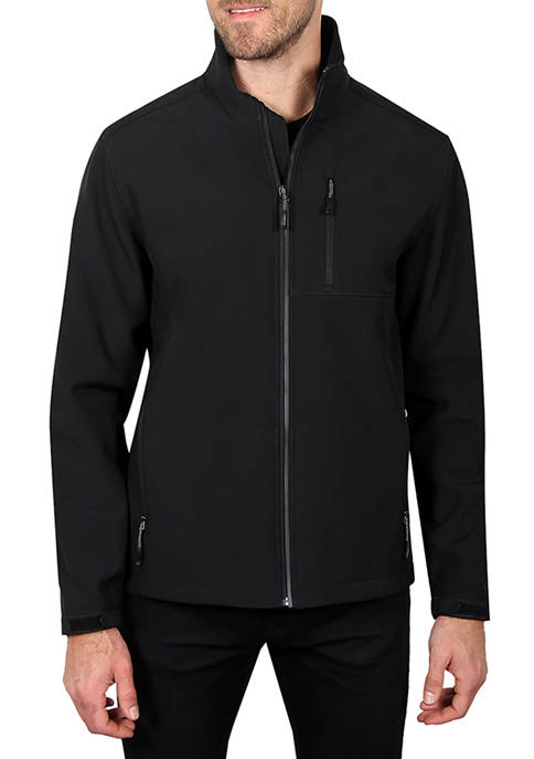 Haggar® Mens Stretch Softshell Jacket with Reflective Trim