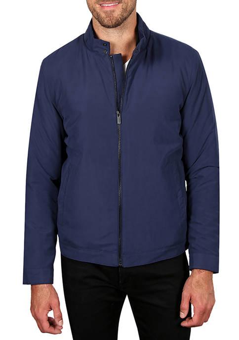 Haggar® Mens Microfiber Golf Jacket with Corduroy Trim