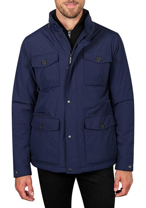 Haggar® Mens Water and Wind Resistant Safari Jacket