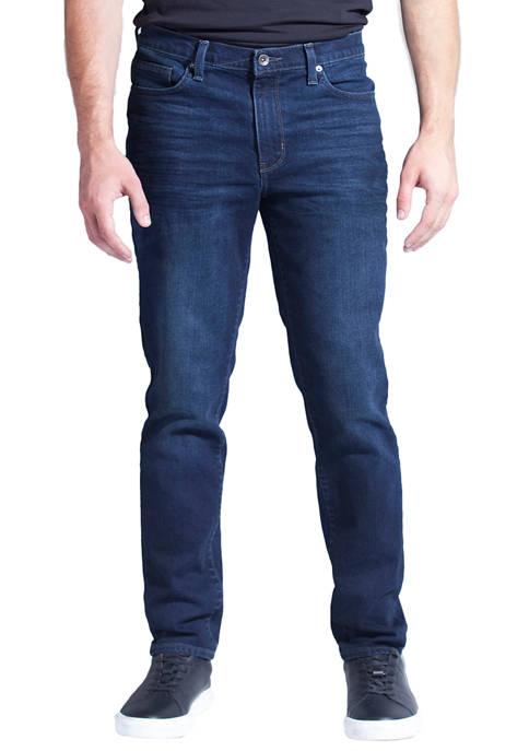 Mens Taper Fit Performance Stretch Denim Jeans