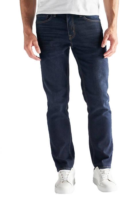 Mens Slim Straight Fit Performance Stretch Denim Jeans