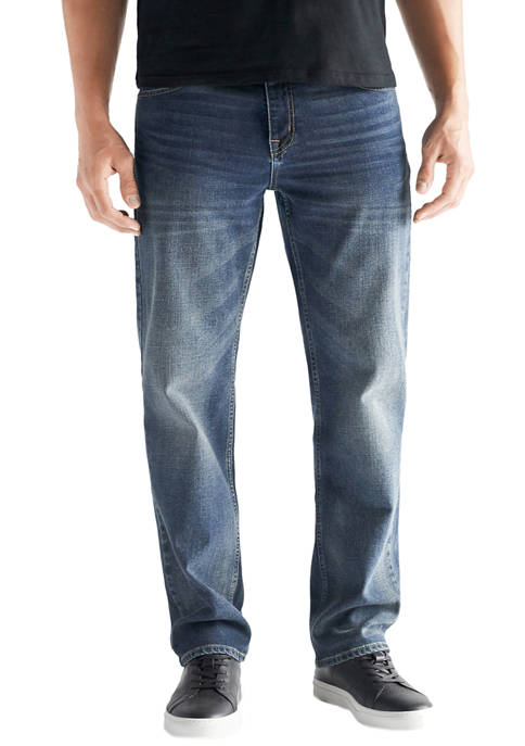Devil-Dog Dungarees Mens Straight Fit Performance Stretch Denim