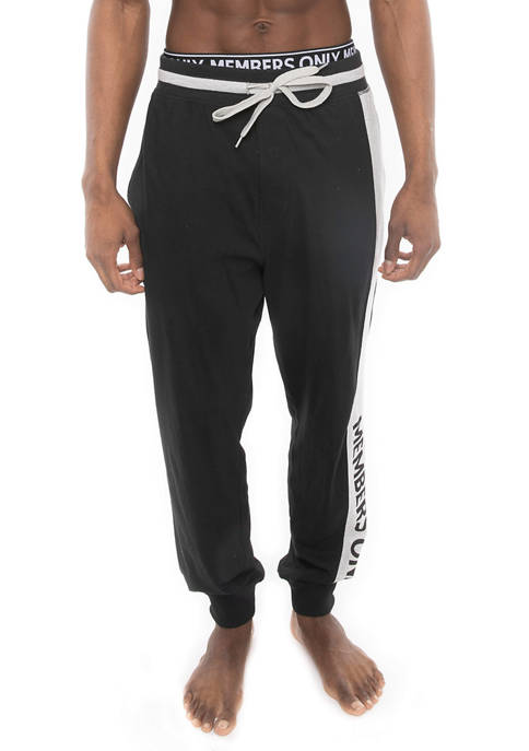 Members Only Jogger Knit Pants with Printed Logo