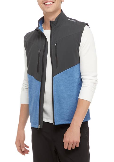 Mason Fabric-Blocked Zip Vest