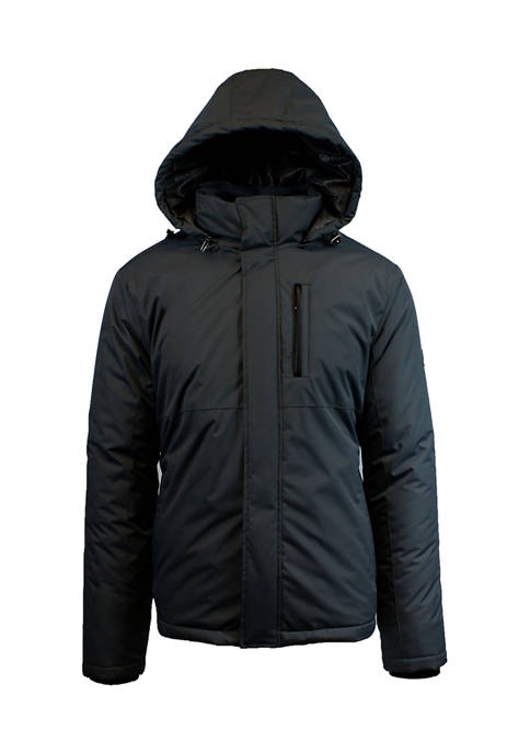 Mens Heavyweight Presidential Tech Jacket with Detachable Hood