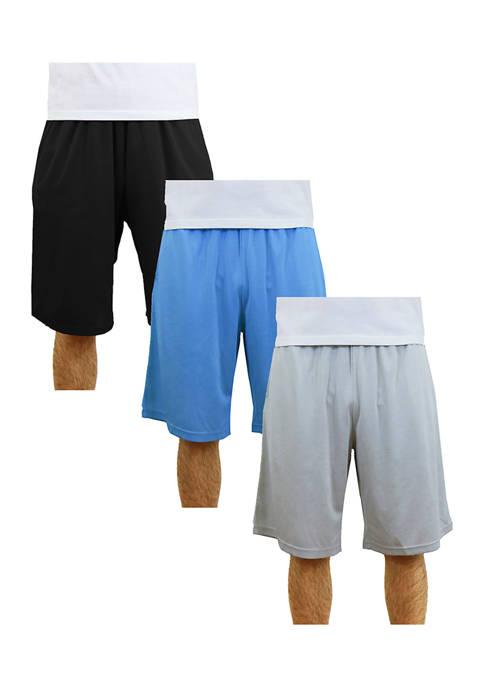 Mens Moisture-Wicking Mesh Shorts (3-Pack)