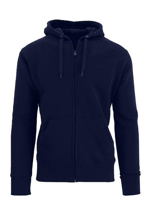 Galaxy Mens Fleece-Lined Zip Hoodie