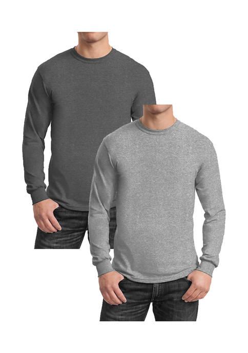 Galaxy Mens Egyptian Cotton-Blend Long Sleeve Crew Neck