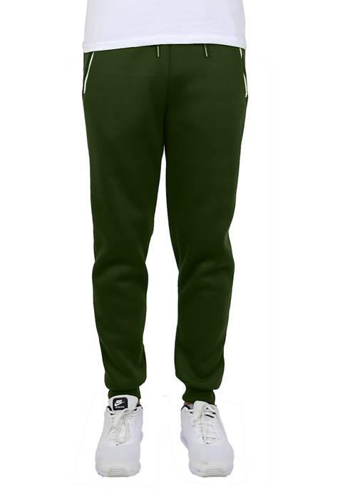 Galaxy Mens Slim Fit Jogger Pants With Zipper