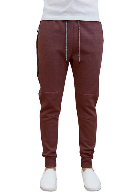 Galaxy Mens Tech Fleece Joggers with Zipper Pockets