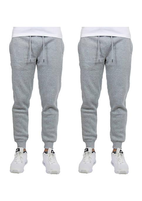 Galaxy Mens Slim Fit Jogger Pants (2 Pack)