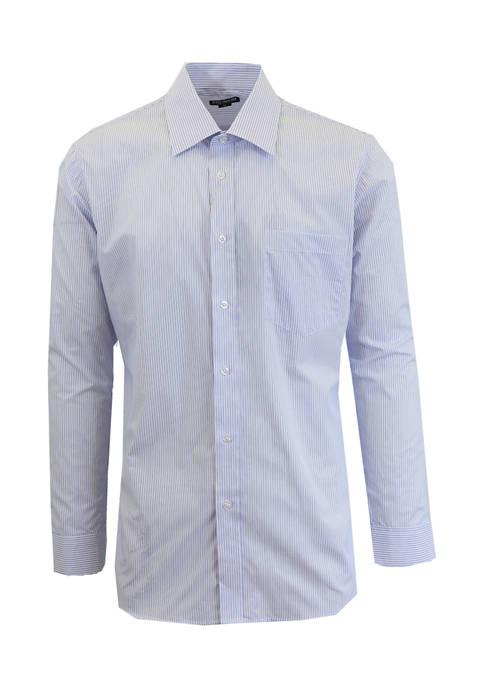 Galaxy Mens Long Sleeve Pinstripe Dress Shirt