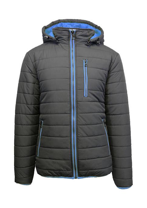 Mens Heavyweight Puffer Jacket with Detachable Hood