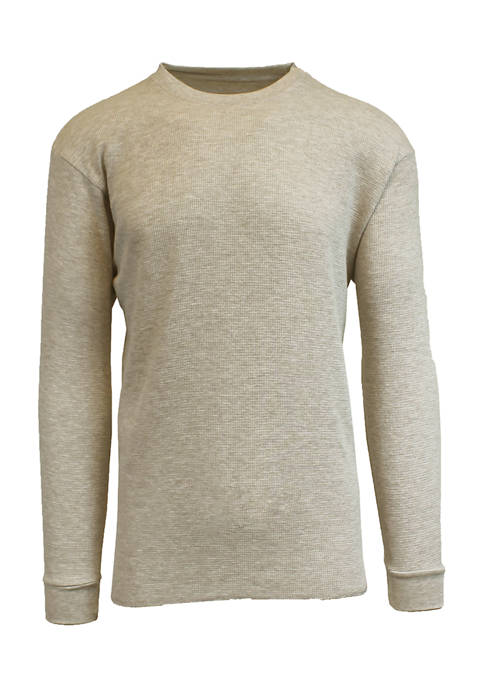 Galaxy Mens Waffle Knit Thermal Shirt