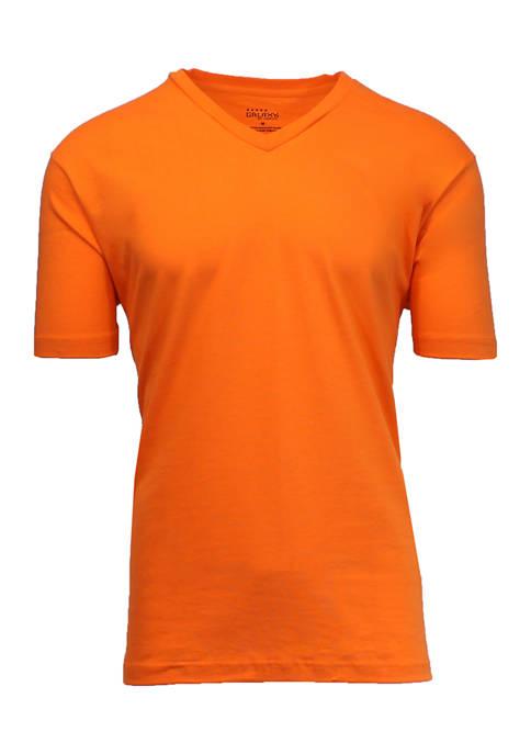 Galaxy Mens Short Sleeve V-Neck T-Shirt
