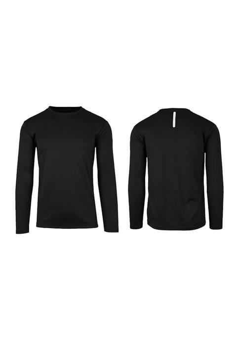 Mens Moisture-Wicking Long Sleeve Performance T-Shirt