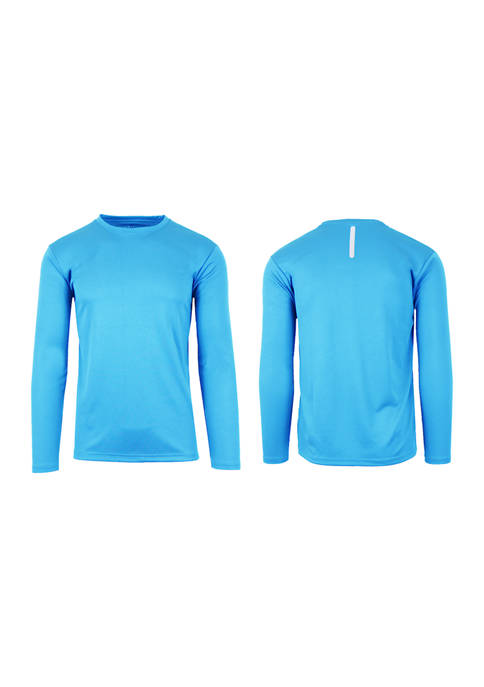 Galaxy by Harvic Mens Moisture-Wicking Long Sleeve Performance