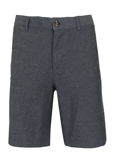 Galaxy by Harvic Mens Flat Front Cotton Stretch