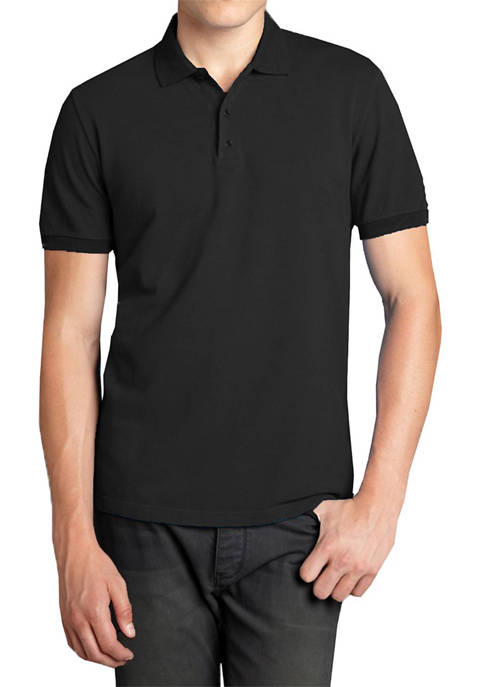 Galaxy Mens Short Sleeve Pique Polo Shirt