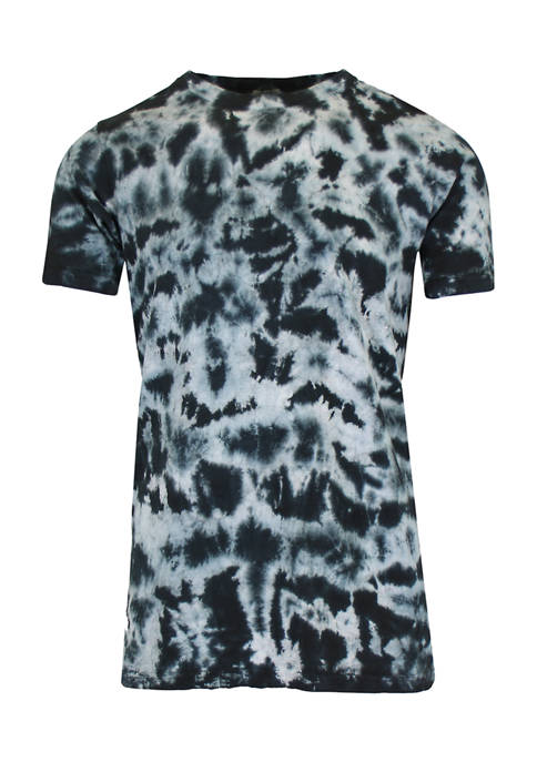 Galaxy by Harvic Short Sleeve Tie-Dye Printed T-Shirt