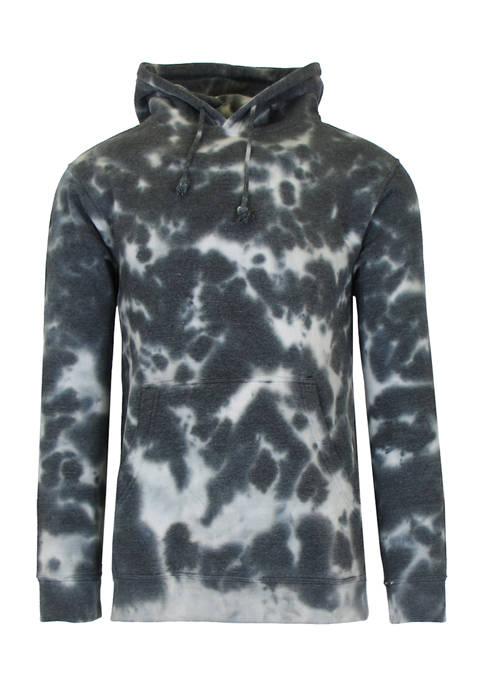 Galaxy by Harvic Mens Tie-Dye Fleece Pullover Sweater