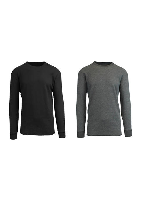 Spire By Galaxy Mens Waffle Knit Thermal Shirt