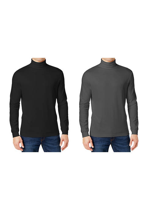 Galaxy by Harvic Mens Long Sleeve Turtleneck T-Shirt
