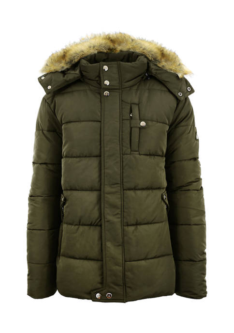 Spire By Galaxy Mens Heavyweight Bomber Parka Zip