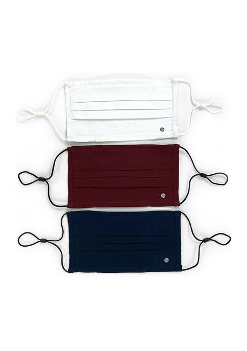 SOCIETY OF THREADS Adult Solid Flat 3 Pack