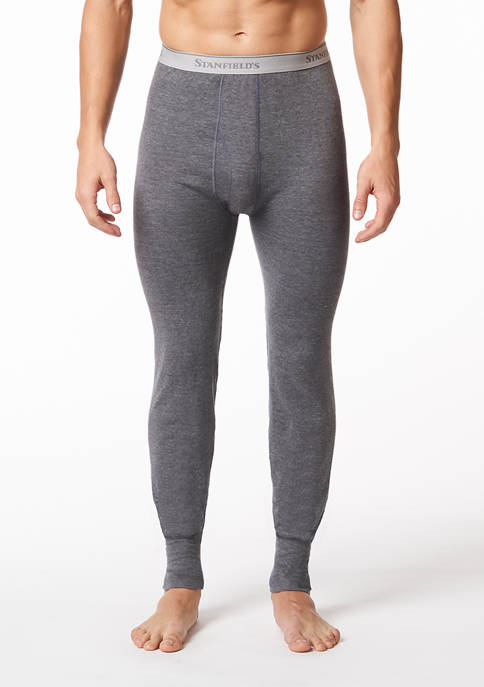 Mens 2 Layer Cotton Blend Thermal Long Johns