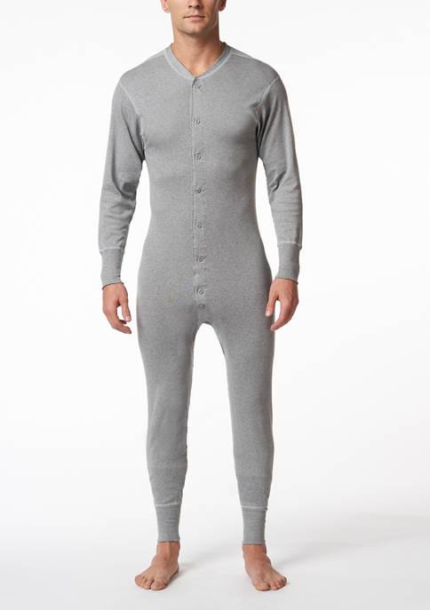 Mens Cotton Long Sleeve Onesie Combination