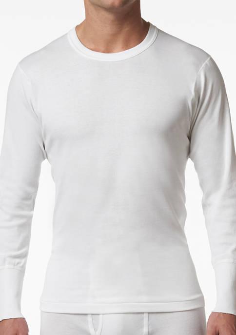 Mens Premium 100% Cotton Thermal Base Layer Long Sleeve Shirt