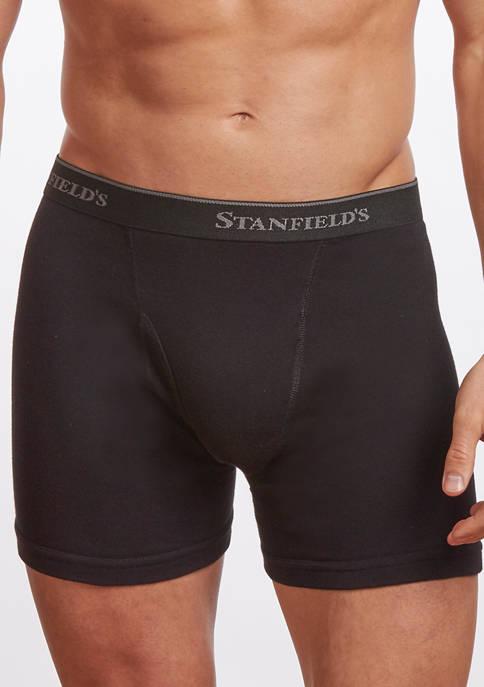 Mens Premium 100% Cotton Boxer Brief Underwear- 2 Pack