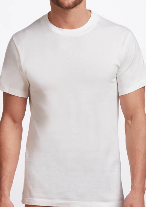 Mens Premium 100% Cotton Crew Neck T-Shirt- 2 Pack