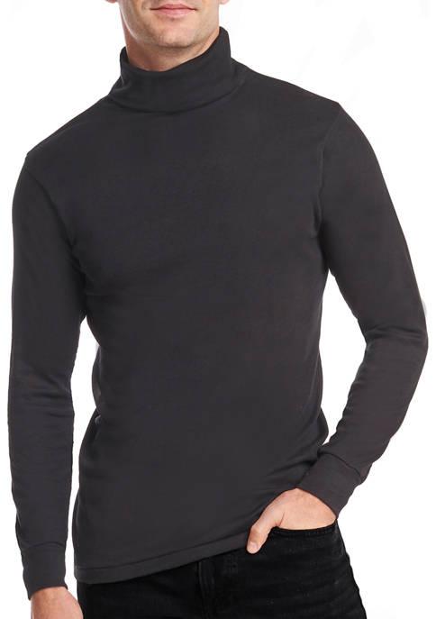 Stanfield's Mens Rib Cotton Blend Turtleneck Shirt